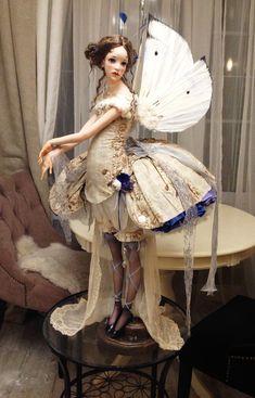 Ooak Dolls, Blythe Dolls, Fashion Dolls, Fashion Art, My Art Studio, Fairy Dress, Doll Repaint, Monster High Dolls, Doll Maker