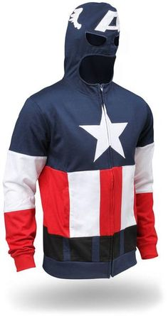 Captain America hoodie! Awesome! Can I maybe get this in Iron Man or Spiderman instead?? Seriously...
