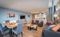 Three Bed Corner Seaview Apartment - Self Catering Apartments Wexford Town, Apartments, Catering, Corner, Bedroom, Modern, Table, Furniture, Home Decor