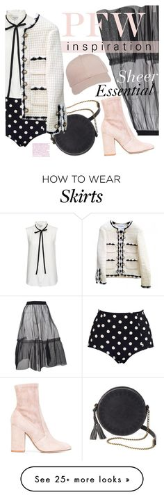 """""""Sheer Essential"""" by ivansyd on Polyvore featuring Frame Denim, MSGM, Monki, Valentino, T-shirt & Jeans and Chanel"""