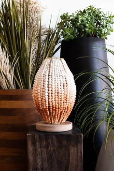 Beaded Barrel Table Lamp in Terracotta Ombre is the perfect statement table lamp. #beadedlighting #statementlamp #tabletoplamp #africandecor Interior Design Inspiration, Home Decor Inspiration, Barrel Table, Bedside Table Lamps, Interior Stylist, Luxury Decor, Unique Lighting, Interior Lighting, Exterior Design