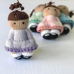 Ravelry: Sweet & Simple Girls pattern by Esther Braithwaite tiere Sweet & Simple Girls The Effective Pictures We Offer You About crochet toys free A quality picture can tell you many thin Knitted Doll Patterns, Knitted Dolls, Knitting Patterns Free, Crochet Toys, Double Knitting, Loom Knitting, Baby Knitting, Knitted Teddy Bear, Quick Crochet