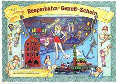 Reeperbahn - Genußschein, St. Pauli  Jux-Aktie aus Hamburg / Erlös z.G. der Aktion Sorgenkind - Euro 14,90