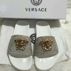 Versace slides authentic Authentic don't ask Versace Shoes Slippers