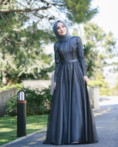 2019 Hijab Evening Dresses Models Navy Blue Long Flared Skirt Beaded Embroidered - Hijab Evening Dress Models Navy Blue Long Flared Skirt Bead Embroidered You are in the right place a - Hijab Prom Dress, Muslimah Wedding Dress, Hijab Evening Dress, Muslim Dress, Evening Dresses, Dress Outfits, Fashion Dresses, Prom Dresses, Dress Brokat Muslim