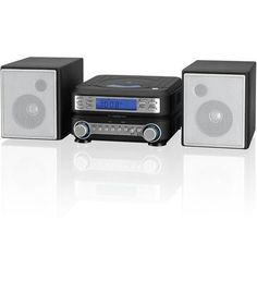"""GPX-HC221B Home Music System (CD/Radio/Aux in) by GPX Audio. 2 Channel Stereo Home Music System Top-load CD player plays CD, CD-R/RW Disc playback: repeat, program AM/FM radio (DLL) Built-in FM wire antenna / built-in AM antenna DBBS: Dynamic Bass Boost System Inputs: 3.5mm audio/video input, 3.5mm audio input Detachable stereo speakers Remote with CD controls 0.7"""" negative LCD display with blue backlight Dimmer control Digital clock with single alarm Wake to iPod, CD, radio, or alarm AC…"""