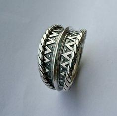 Handmade Sterling Silver Viking Ring by HandmadeJewelryFO on Etsy