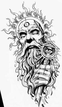 Dragon Tattoo Outline, Tattoo Outline Drawing, Tattoo Design Drawings, Tattoo Sketches, Anubis Tattoo, Medusa Tattoo, Left Arm Tattoos, Sleeve Tattoos, Viking Warrior Tattoos