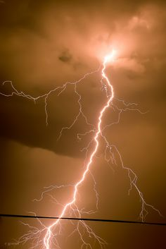Lightning. Giant bolts of electricity coming down from the sky to ruin the fuck out of your day! - j