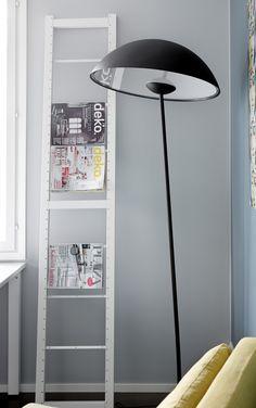 Lundia Kajo floorlamp and Lundia Classic as a magazine holder