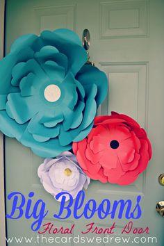 Big Blooms Floral Front Door from The Cards We Drew