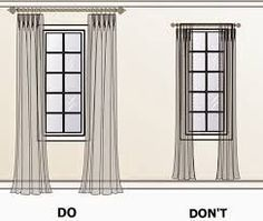 Image result for how to make a room look bigger with curtains More