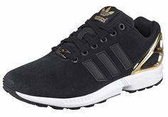 Produkttyp , Sneaker, |Schuhhöhe , Niedrig (low), |Farbe , Schwarz-Goldfarben, |Herstellerfarbbezeichnung , core black, |Obermaterial , Veloursleder, |Verschlussart , Schnürung, |Laufsohle , Gummi, | ...
