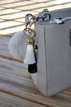 Soft and Fluffy Faux Rabbits Fur Keychain / Fur Ball Keychain / gray fur bull by ZEnella on Etsy https://www.etsy.com/listing/275631676/soft-and-fluffy-faux-rabbits-fur