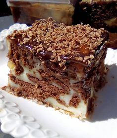 Love this ♥Matina Greek Sweets, Greek Desserts, Pudding Desserts, Greek Recipes, Ice Cream Recipes, Easy Desserts, Chocolate Sweets, Chocolate Recipes, Sweets Recipes