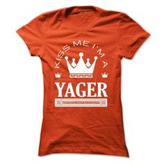 Kiss Me I Am YAGER Queen Day 2015 - #funny tee #cool sweater. PRICE CUT => https://www.sunfrog.com/Names/Kiss-Me-I-Am-YAGER-Queen-Day-2015-fwgeutzerq-Ladies.html?68278