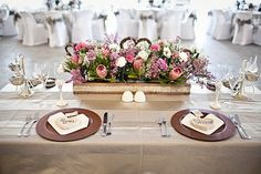 Real Wedding at Fynbos Golf & Country Estate Sharné & Ryan Wedding Table Decorations, Wedding Arrangements, Wedding Table Settings, Table Centerpieces, Flower Arrangements, Flower Box Centerpiece, Table Flowers, Protea Wedding, Wedding Flowers