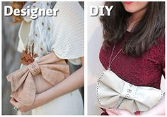 Bow Clutch · How To Sew A Bow Clutch · Sewing on Cut Out + Keep · How To by Cat Morley - step by step Photo tutorial - Bildanleitung