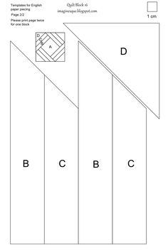 Heleen Pinkster Quilt Design - Archief Blokken van de maand ... : quilt templates printable - Adamdwight.com