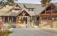 Plan 23284JD: Luxury Craftsman with Front-to-Back Views