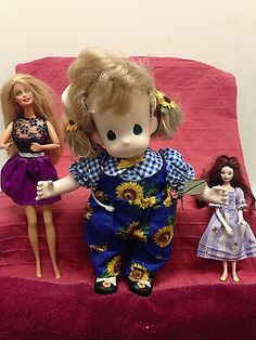 nice Precious Moment 12 Inch Doll Barbie 12 Inch Doll & Disney 7 Inch Doll Lot of 3 - For Sale Check more at http://shipperscentral.com/wp/product/precious-moment-12-inch-doll-barbie-12-inch-doll-disney-7-inch-doll-lot-of-3-for-sale/