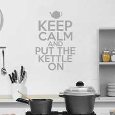 Keep Calm & Put The Kettle On Decal - Grey from Wall Decal Revamp - (Save