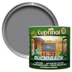 Cuprinol 5 Year Ducksback Silver Copse Matt Shed & Fence Care 9L | Departments | DIY at B&Q