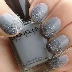 15+ ideas nails glitter design grey for 2019 #AcrylicNailsDesigns Glitter Acrylics, Glitter Gradient Nails, Glitter Nail Art, Nail Designs 2017, Grey Nail Designs, Short Nail Designs, Coffin Nails, Gel Nails, Nail Nail