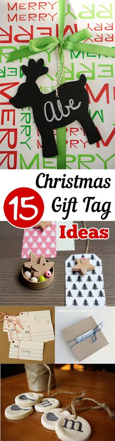 Creative ways to dress up your packages with fancy gift tags! Fun DIY Christmas gift tag ideas.