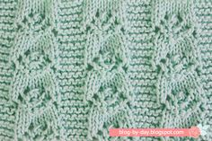 Today I'm posting a pattern of a big stitch that looks great on blouses, coats, baby vest and hats. Lace Knitting, Knitting Stitches, Knit Crochet, Stitch Patterns, Knitting Patterns, Crochet Patterns, Video Blog, Free Pattern, Diy And Crafts