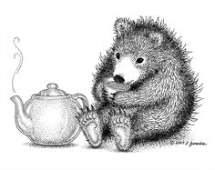 A tea drinking bear?  Sure.  Why not?