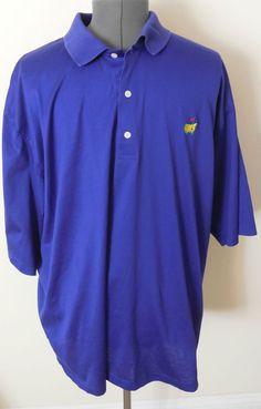 Mens Augusta National Golf Shop Purple XXL 2XL Polo Shirt Slazenger #AugustaNationalGolfShop #Polo