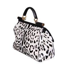 Dolce and Gabbana Black/White Leopard Print