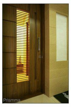 Super Ideas for main entrance door design ideas Main Entrance Door Design, Wooden Main Door Design, Modern Wooden Doors, Main Gate Design, Front Door Design, Entrance Doors, Door Entryway, Entrance Ideas, Pooja Room Door Design