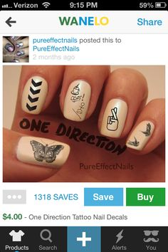 One Direction Tattoo Nail Decals I like how the middle finger says opps. One Direction Tattoos, One Direction Nails, One Direction Memes, One Direction Pictures, I Love One Direction, Harry Styles, Newspaper Nails, Nail Decals, Nail Inspo