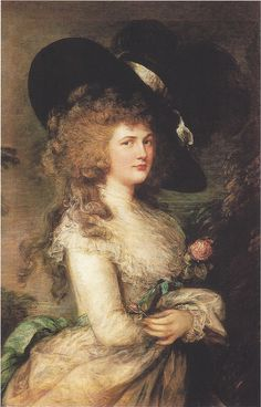 Her Grace Georgiana Cavendish, Duchess of Devonshire by Thomas Gainsborough (May 14, 1727 - August 2, 1788)