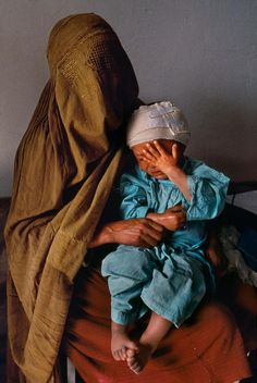 Waiting for medical care. Kabul, Afghanistan