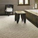 """""""Roadside Attraction"""" Carpet Tiles by FLOR for under table rug - Haze or Eggnog (Better Than Sisal line)"""