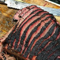 Check the bark on this brisket! That @shuncutlery knife ain't half bad either . Pic and brisket courtesy of @four41south : What's everybody throwing down for dinner tonight? I can't wait for som Brisket tacos!  Fat Henry's is my go to for Briskets!  Killer Bark. . . . #Grill #Grilling #BBQ #Barbecue #FoodPorn #GrillPorn #Beef #BeefPorn #Brisket #Food #FoodPhotography #foodgasm #foodography #instafood #foodiegram #foodie #foodstagram #foodpics #Meat #MeatPorn #meatlover #Paleo #GlutenFree…