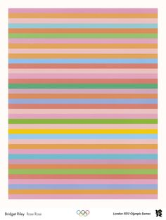 Bridget Riley – Rose Rose. 2012 Olympic Art Posters.