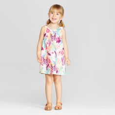 d92f1178a Genuine Kids from OshKosh Toddler Girls' Desert Floral A Line Dress - 18M,  Multicolored