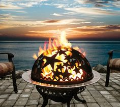 Gather around the fire pit, Let's talk and laugh, this is the end to a perfect day!  #OKLsummer