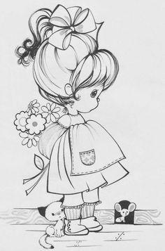 desenhos infantis - menina