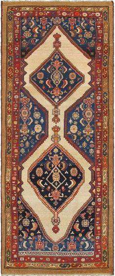 "Persian Serab rug, 3'9""X9'10"", 1890, Keivan Woven Arts Gallery"