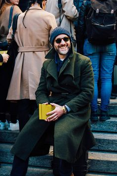 Street looks from Menswear Week Milan Fall/Winter 2016-2017 | Vogue Paris Menstyle Streetstyle winterwear