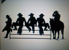 Cute Cowboy Theme, Cowboy Art, Western Theme, Western Art, Western Cowboy, Silhouette Pictures, Silhouette Clip Art, Silhouette Design, Wood Craft Patterns