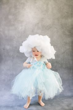"""No sew is my DIY love language. So is easy to put together and this Rain Cloud costume is all of that. Plus you can alter it for warmer or colder climates and there's the whole """"Holy cow that is the"""