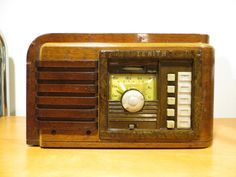 VINTAGE 1930s ZENITH UNIQUE ART DECO RARE WOOD PATTERNED OLD TUBE RADIO L@@K