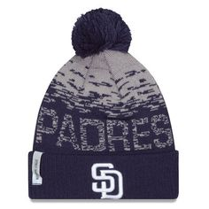 0b34a9348eebc New Era Navy San Diego Padres 2016 Clubhouse On-Field Sport Knit Hat
