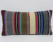 kilim pillow sitting pillow country pillow cover striped throw pillow burlap pillow sham large pillow case primitive pillow case green 29631